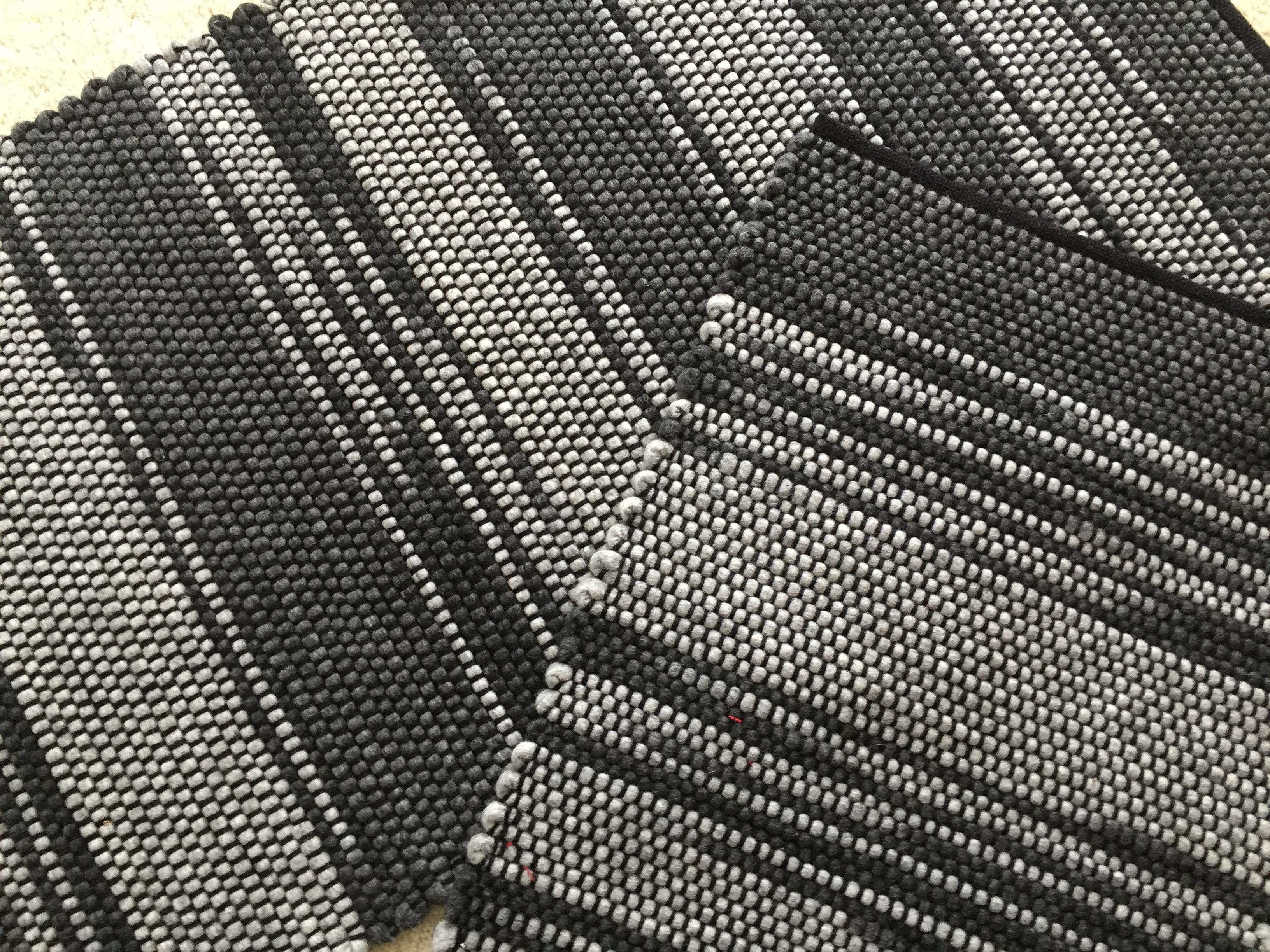 Charcoal Rug-Handwoven Wool