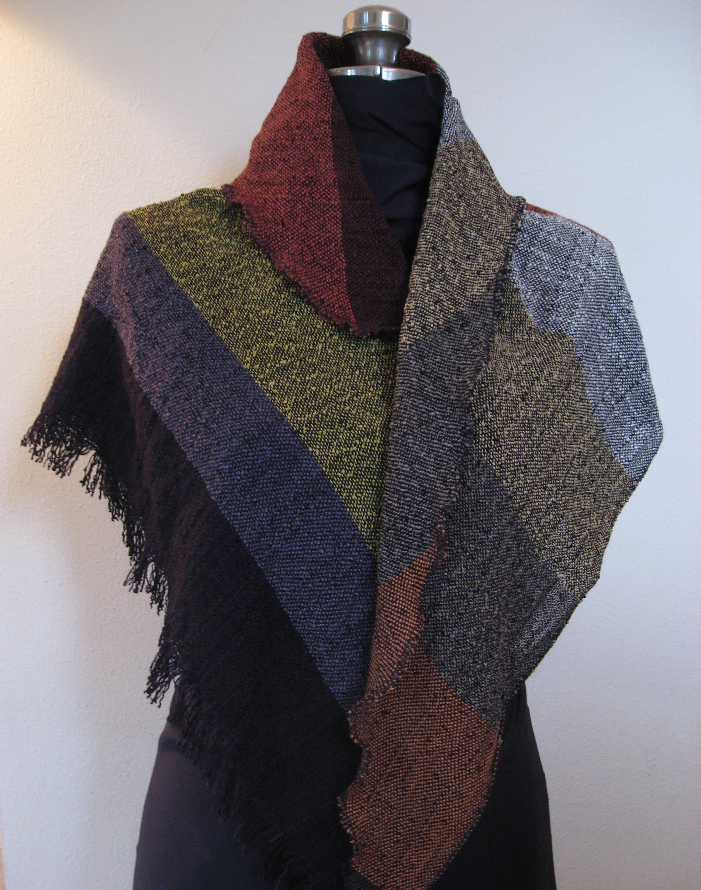 Color Block Bias Shawl